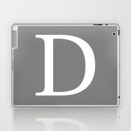 Darker Gray Basic Monogram D Laptop & iPad Skin