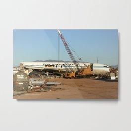 Pan Am 707 being broken up Metal Print