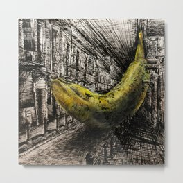 Old San Banana Metal Print