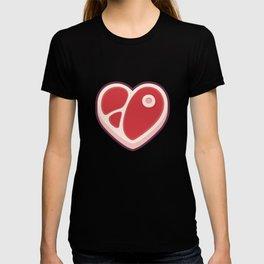 Heart shaped steak T-shirt
