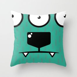 Monsters⁴ : Blue Throw Pillow