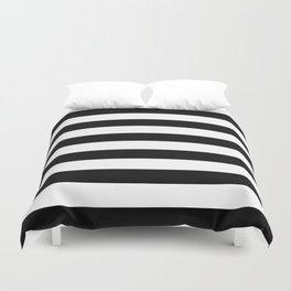 Black & White Stripes- Mix & Match with Simplicity of Life Duvet Cover