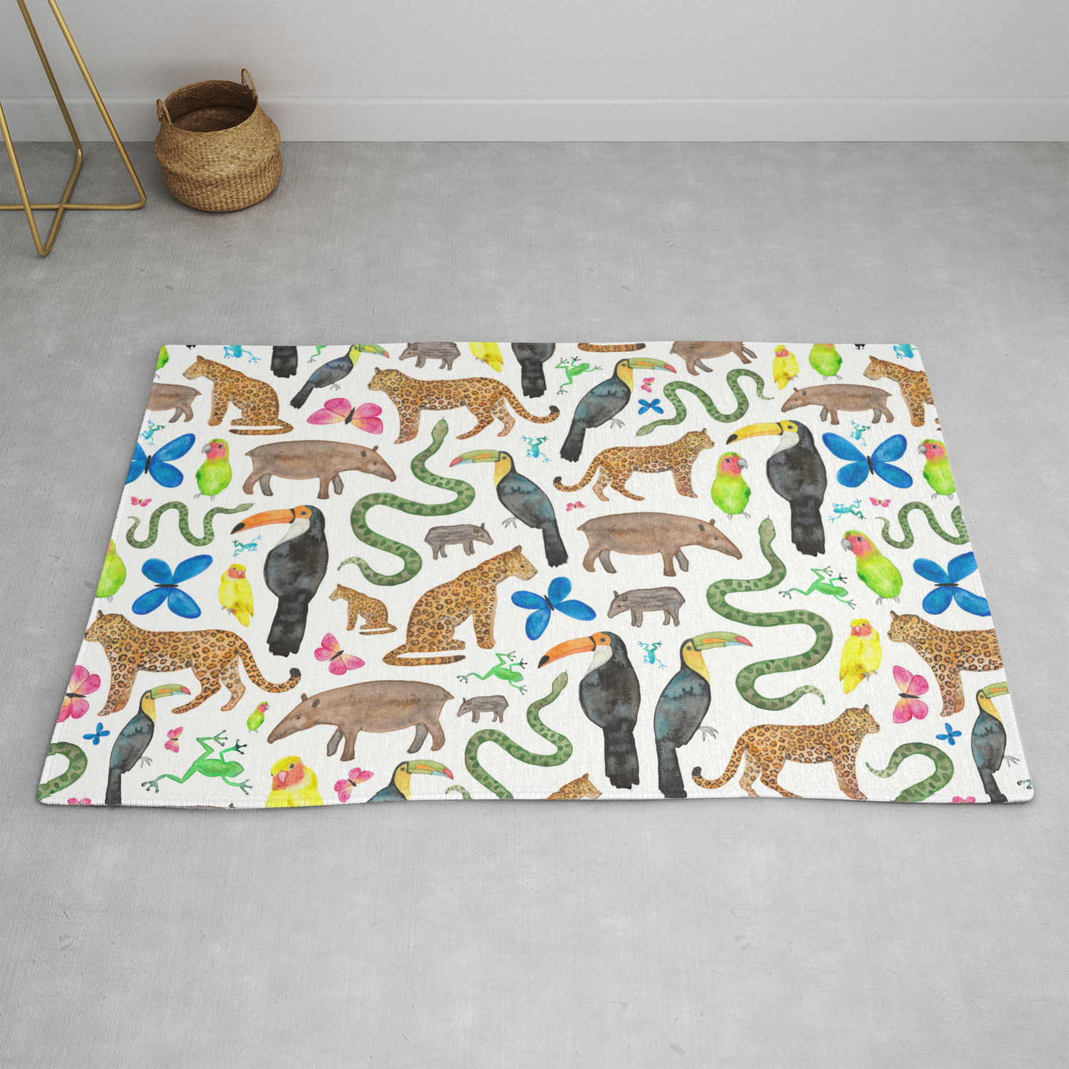Jungle Exotic Animals Rug By