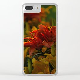 Tiger Lillies at Dusk Clear iPhone Case