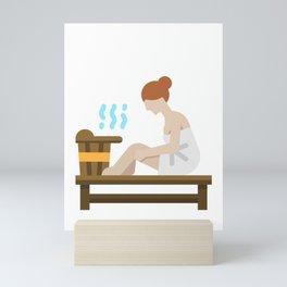 Sauna Girl Saunas Mini Art Print