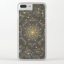 Cosmic Breath - Dot Mandala Clear iPhone Case