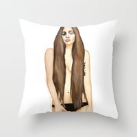 artpop Throw Pillows featuring ARTPOP by Alfonso Aranda