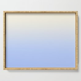 CLOUDY SKIES - Minimal Plain Soft Mood Color Blend Prints Serving Tray