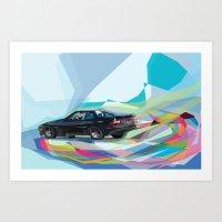 Color Motion Car Art Print