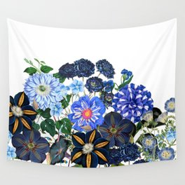 Vintage & Shabby Chic - Blue Flower Summer Meadow Wall Tapestry