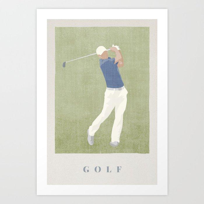 SUMMER GAMES / Golf Art Print