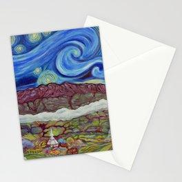 Sunny Starry Night Stationery Cards