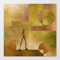 african Canvas Prints featuring African by gabiw Art