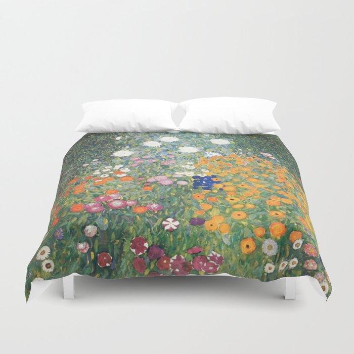 Gustav Klimt Flower Garden Bettbezug