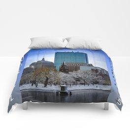 Winter in Boston Comforters