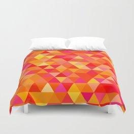nested triangles Duvet Cover