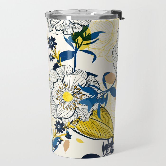 Flowers patten1 Travel Mug
