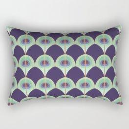 Peacock Feather Art Deco Rectangular Pillow