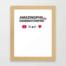 Amazingphil and danisnotonfire Framed Art Print