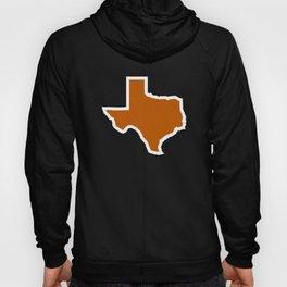 Texas Outline in Burnt Orange, Longhorns Hoody