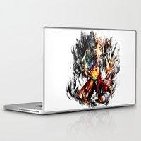 gurren lagann Laptop & iPad Skins featuring  Kamina by ururuty