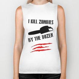 zombie funny Biker Tank