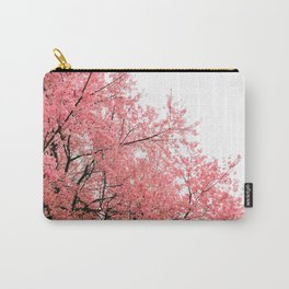 Coral Pink Flowers  Carry-All Pouch