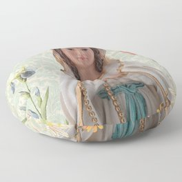 Virgen de Lourdes Floor Pillow