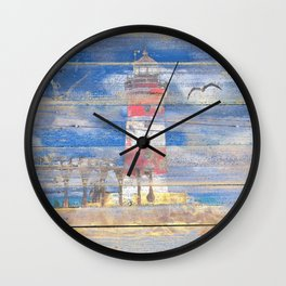 Lighthouse with Seagulls A343 Wall Clock