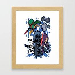 Darth Vader and Friends Framed Art Print
