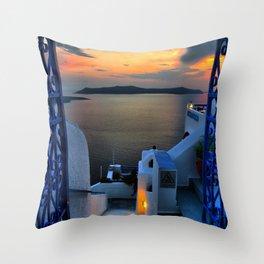Santorini 15 Throw Pillow