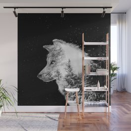 Winter Wolf Wall Mural
