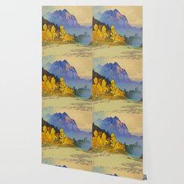 Vintage Japanese Woodblock Print American Landscape Hiroshi Yoshida Wallpaper