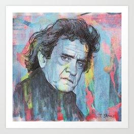 Johnny Cash - Man In Black Art Print