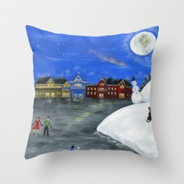 Hilly Hope Throw Pillow