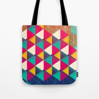 scales Tote Bags featuring Scales  by sixsixtysix