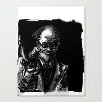 freud Canvas Prints featuring Freud by Long Live The Doughnuts