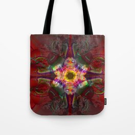 Sedona Red- Wall Art- Sacred Geometry- Fractal Art- Tote Bag