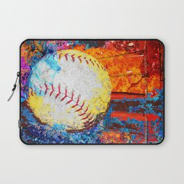 Colorful Baseball Art Laptop Sleeve