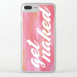 Get Naked Pink Clear iPhone Case