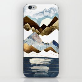 Minimal Abstract Mountains iPhone Skin