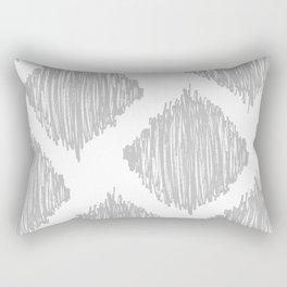 Gray Scribble Diamonds Rectangular Pillow