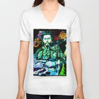 wes anderson V-neck T-shirts featuring The End of William T. Anderson by AF Knott