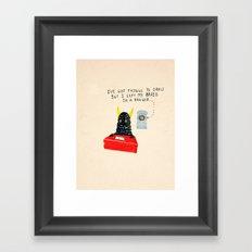 Silly Rhyme doodles  Framed Art Print