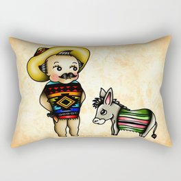 Mexican Kewpie Rectangular Pillow