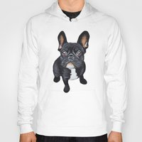 french bulldog Hoodies featuring French Bulldog by PaperTigress