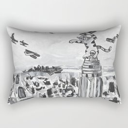 New York City Cat Rectangular Pillow