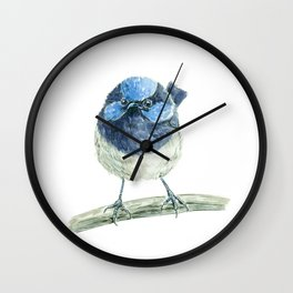 Fairy wren bird Wall Clock
