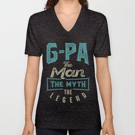 G-Pa The Myth The Legend Unisex V-Neck
