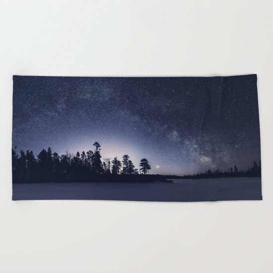 Arcing Over the Puddle Beach Towel